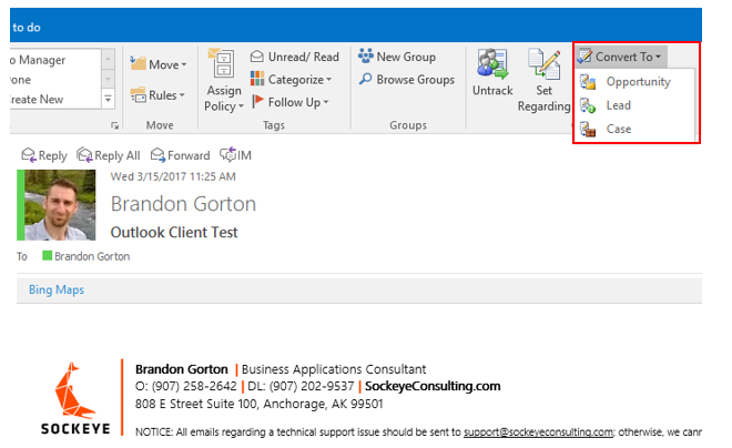 Outlook Convert To